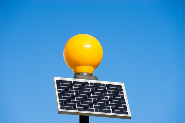 Traffic light from solar cell panel