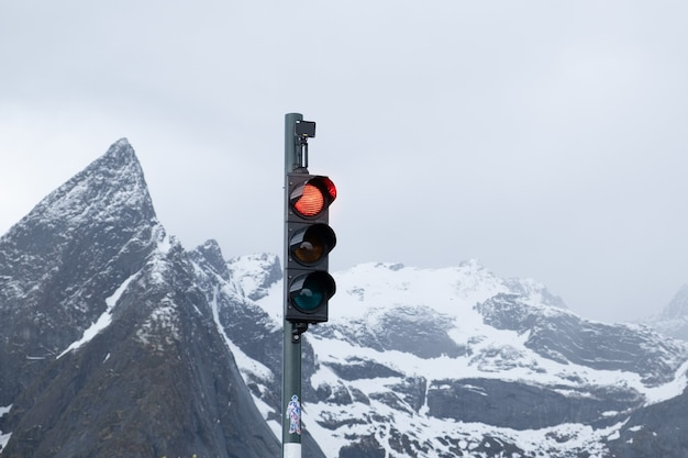 アイスランドレイキャビクの信号機。