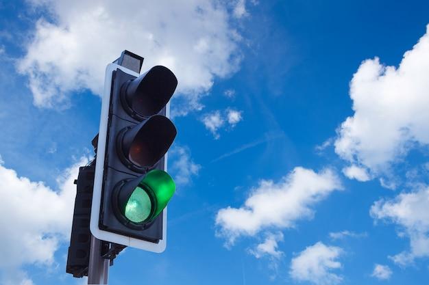 Traffic light in urban transportation in  london