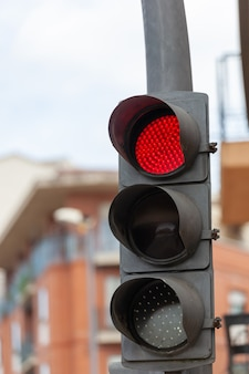 Traffic lights with red light