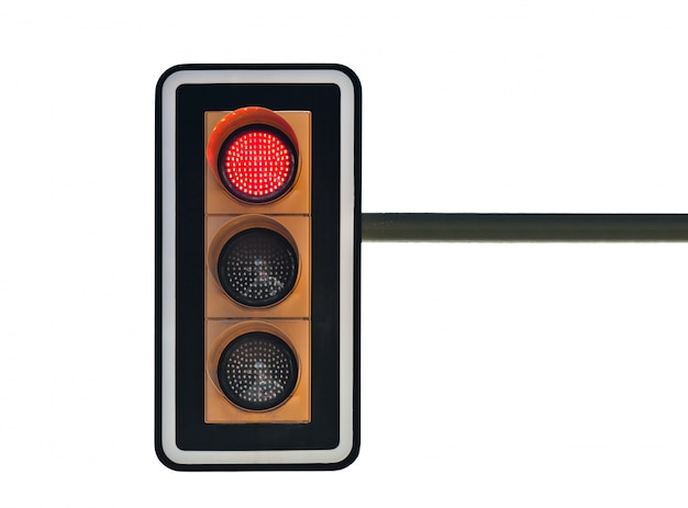 Traffic lights with red