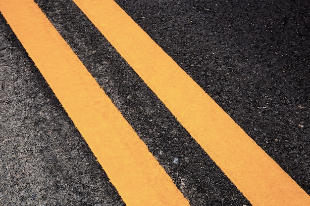 Traffic line on street with texture.