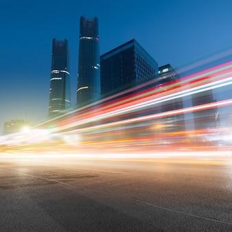 Traffic at night in nan chang