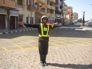 Traffic policeman in egypt