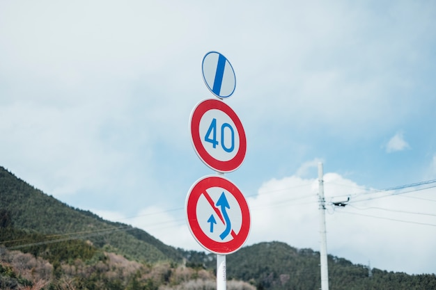 Traffic sign and symbol