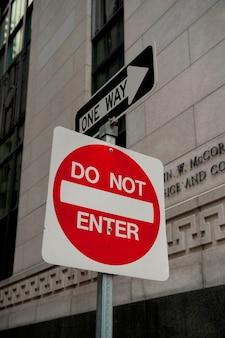 Traffic signs in boston, massachusetts, usa Premium Photo