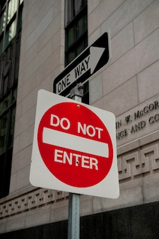 アメリカ、マサチューセッツ州ボストンの交通標識
