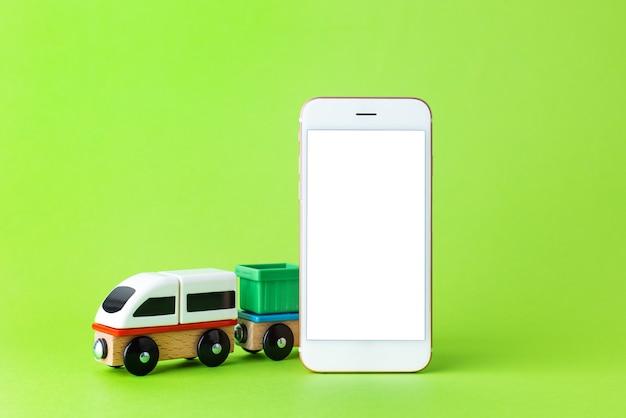 白い画面で子供のおもちゃや携帯電話を訓練する