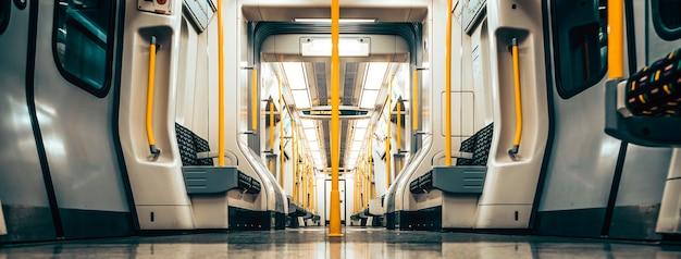 Train inside the empty car