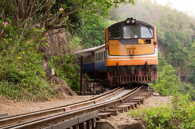 Train on the railway, thailand