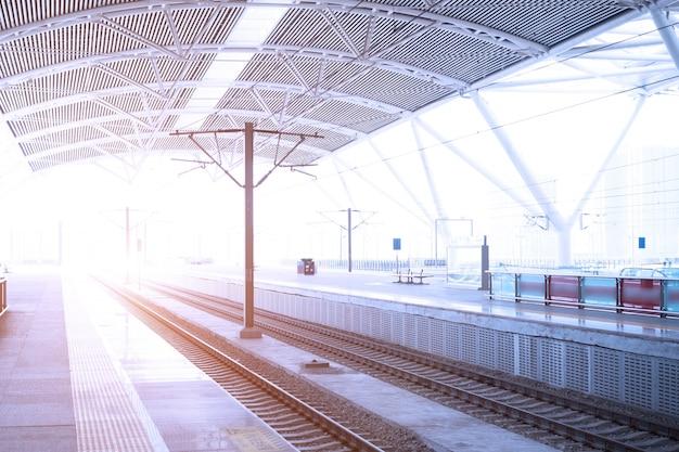 역에서 기차