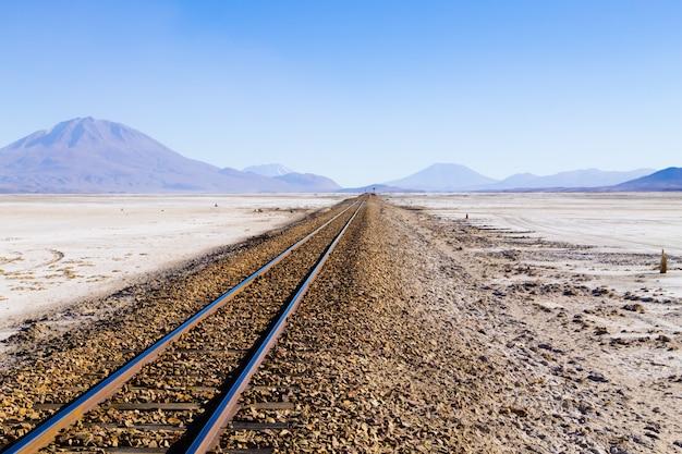 ボリビアのサラールの線路