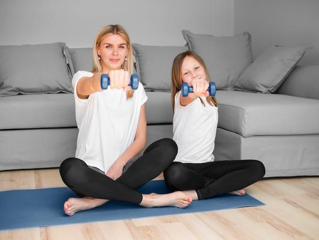 Тренировка дома с весами