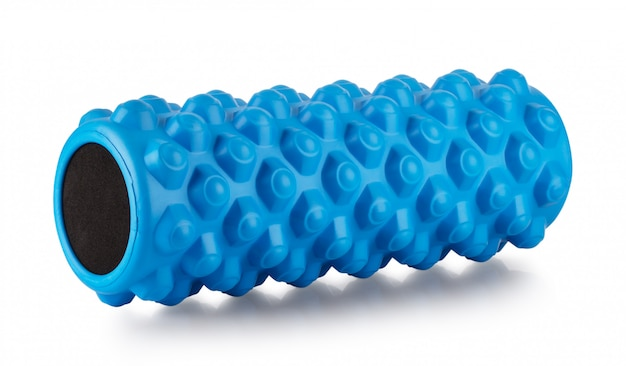 Training blue massage roller