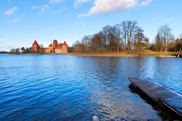 Trakai: view of the medieval castle
