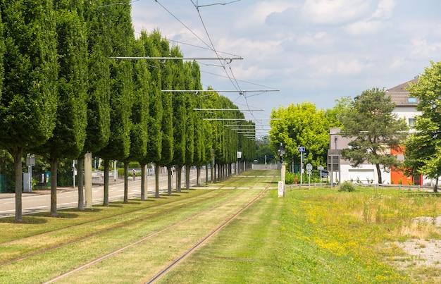 Tram tracks in strasbourg