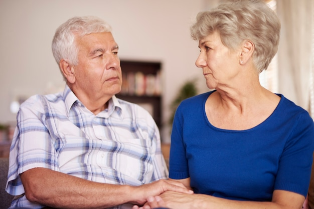 노인 결혼의 고요한 장면