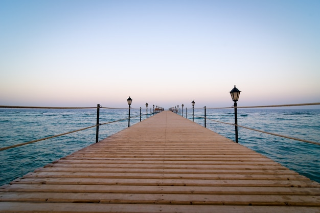 Tranquil wooden pier