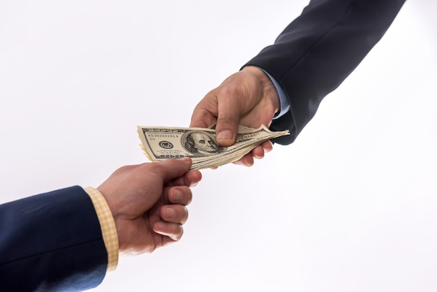 Transfer of money between two businessmen