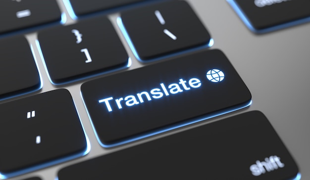 Translate text written on keyboard button
