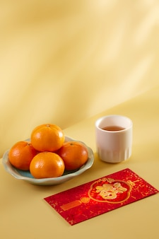 Translation text on red envelope in image: prosperity and spring