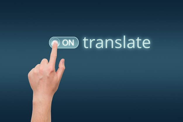 손으로 번역기 시작 개념 설정