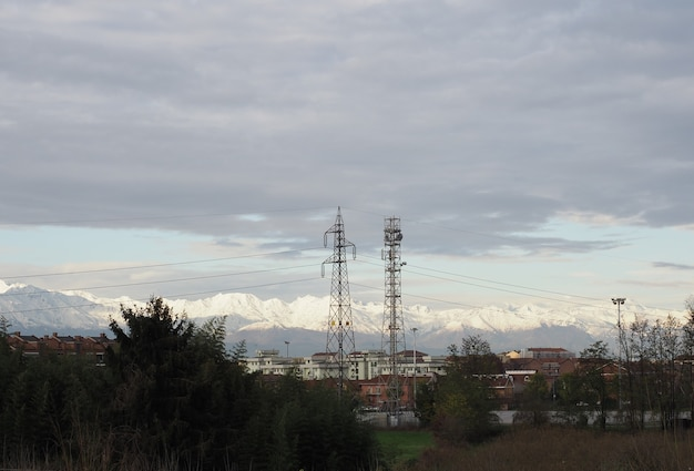 Transmission line tower and cell tower