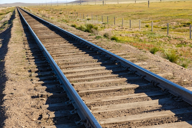 Transmongol railway, single-track railway