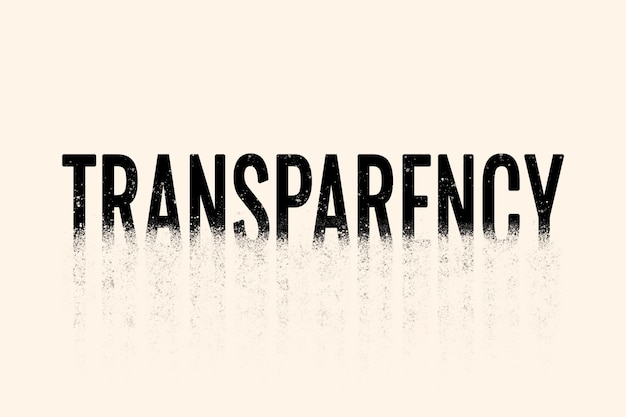 Transparency typography in crumble font