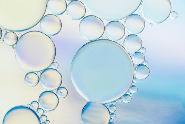 Transparent abstract different bubbles texture