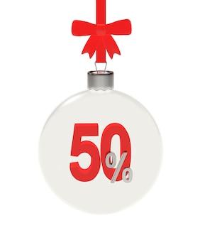 Прозрачный новогодний шар на 50 процентов