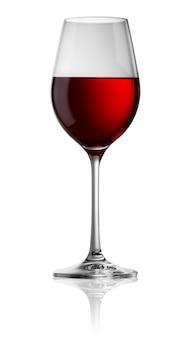 赤ワインの透明なガラス