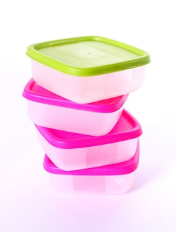 Transparent plastic boxes for storage of products