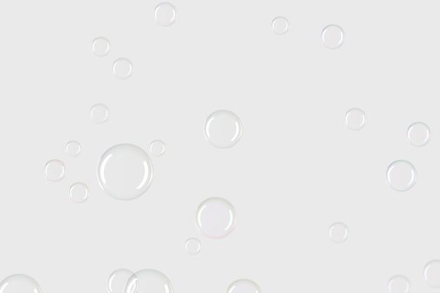 灰色の背景の壁紙に透明なシャボン玉のパターン