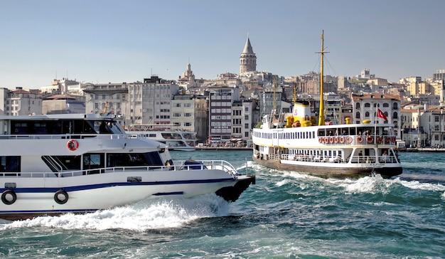 Transportation on bosphorus in istanbul