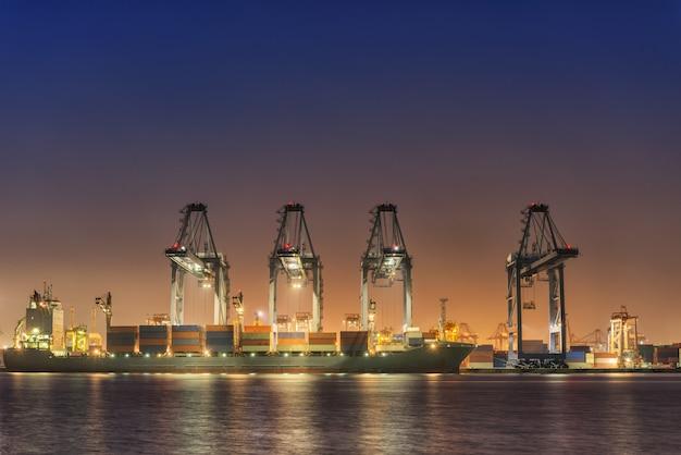 Transportation and shipping logistics loading dock terminal.