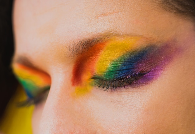 性転換者の男性の肖像画、ゲイの人々、レズビアン、トランスジェンダー、同性愛嫌悪に対する概念的なサポート