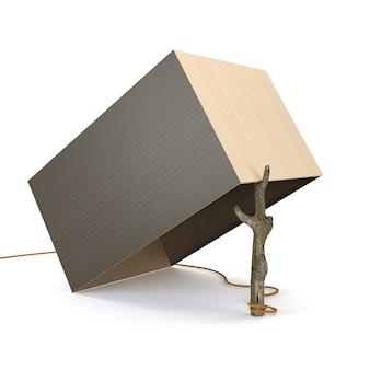 Ловушки от коробки и ветвей изолированных на белой предпосылке. 3d иллюстрации