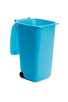 Trash bin empty isolated on white background