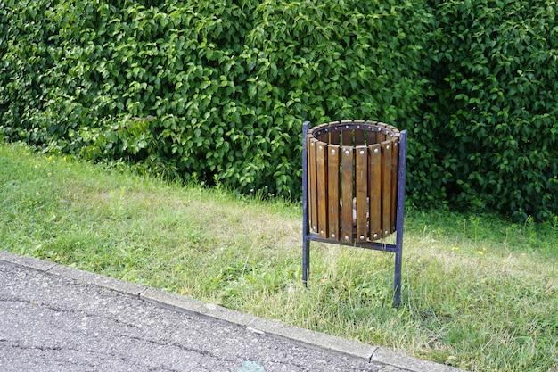Trash can bin in the park