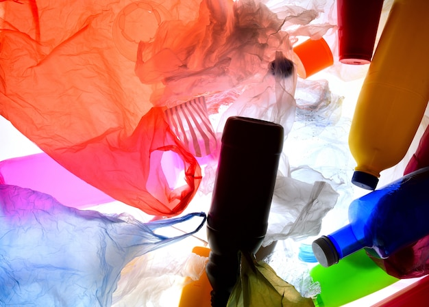 Trash plastic backlight