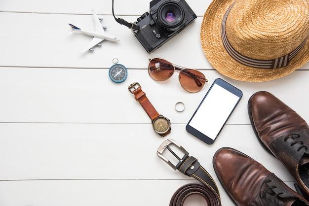 Travel accessories costumes for men.
