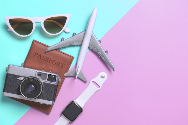 Travel accessories objects and gadgets