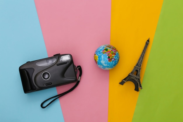 Travel accessories. planning travel concept