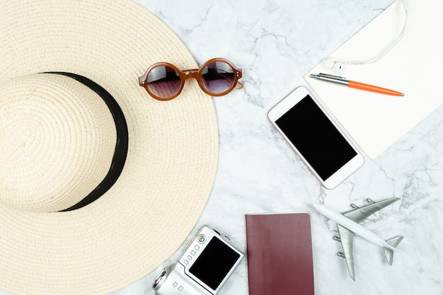 Travel accessories for vacation trip