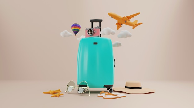 Travel accessories with luggage