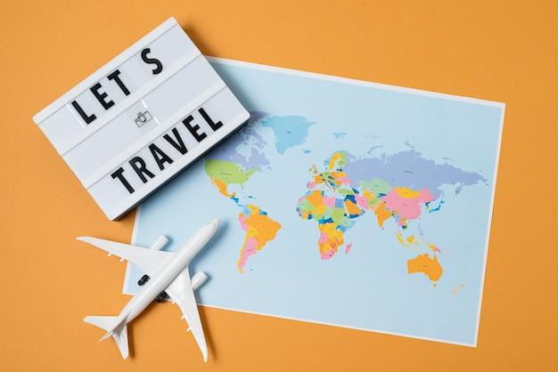 Travel again concept arrangement
