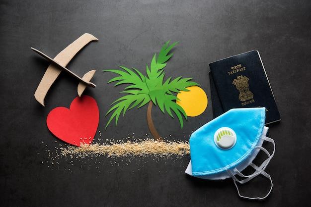 Концепция путешествий и туризма в условиях пандемии короны - индийцы, оказавшиеся в затруднительном положении, возвращаются в индию для свадьбы или медового месяца