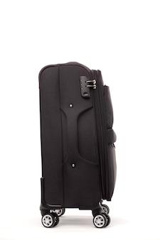 分離された旅行の黒いスーツケース
