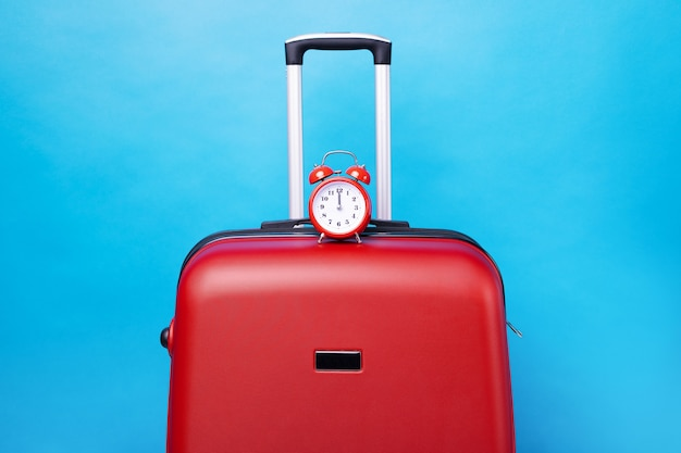 Travel case with alarm clock isolated